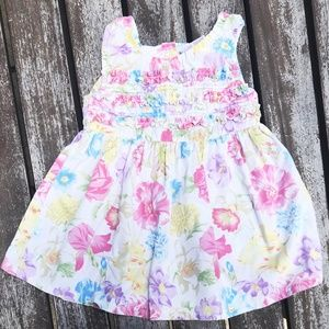 Flower Floral Cotton Sun Dress